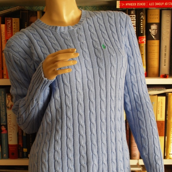 Ralph Lauren Sweaters Cableknit Cotton Sweater Ladies Sz S Poshmark